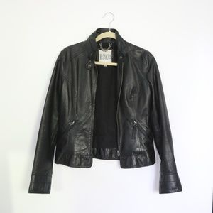 BB Dakota Leather Moto Jacket